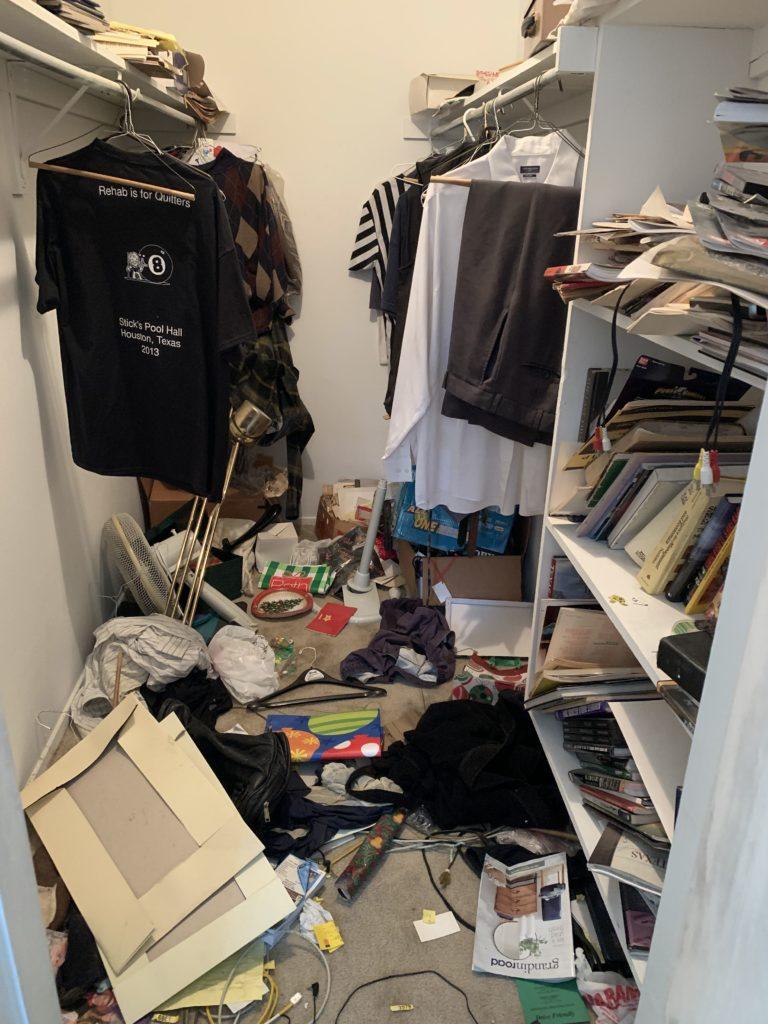 Closet before organizing