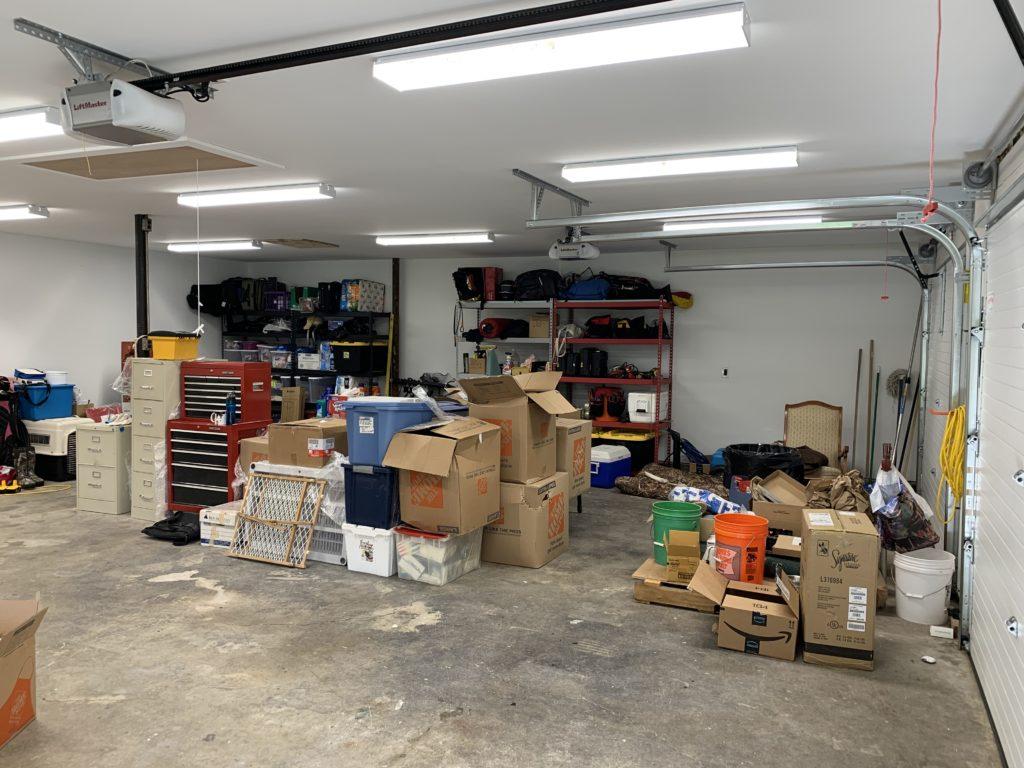 Garage before organizing